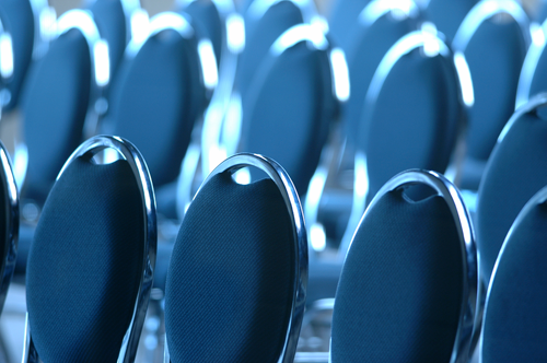 Seats at a business event